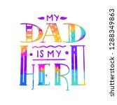 dad super hero hand draw doodle ... | Shutterstock .eps vector #1288349863