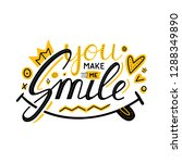 you make me smile inspirational ... | Shutterstock .eps vector #1288349890