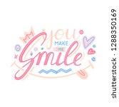 you make me smile inspirational ... | Shutterstock .eps vector #1288350169