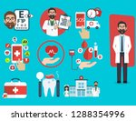medical icons concept set of... | Shutterstock .eps vector #1288354996