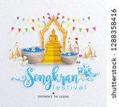 songkran festival  thailand... | Shutterstock .eps vector #1288358416