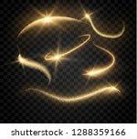 gold glitter spark dust... | Shutterstock .eps vector #1288359166
