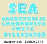 set of bold  bright  cartoon... | Shutterstock .eps vector #1288362943