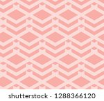 seamless pink vintage geo op... | Shutterstock .eps vector #1288366120