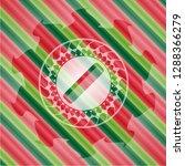 hair comb icon inside christmas ... | Shutterstock .eps vector #1288366279