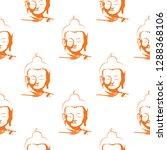 vector buddha head seamless...   Shutterstock .eps vector #1288368106