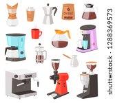 coffee machine vector... | Shutterstock .eps vector #1288369573