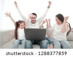 happy family watching their... | Shutterstock . vector #1288377859