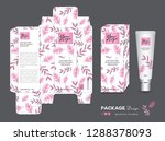 beauty packaging template  3d... | Shutterstock .eps vector #1288378093