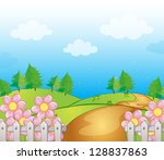 illustration of a road and dirt ...   Shutterstock . vector #128837863
