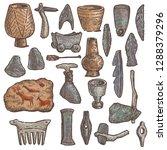 stone age vector primitive cave ... | Shutterstock .eps vector #1288379296