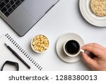healthy snacking at work during ... | Shutterstock . vector #1288380013