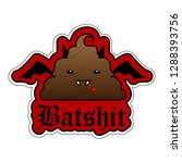 batshit sticker with fangs and  ...   Shutterstock .eps vector #1288393756