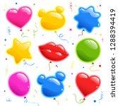set of sticker for birthday....   Shutterstock .eps vector #1288394419