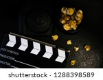top view close up black... | Shutterstock . vector #1288398589
