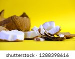 close up raw fresh coconut... | Shutterstock . vector #1288398616