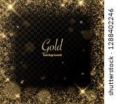 gold glitter transparent... | Shutterstock .eps vector #1288402246