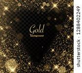 gold glitter transparent... | Shutterstock .eps vector #1288402249