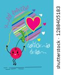 california dream cute cartoon... | Shutterstock .eps vector #1288405183