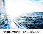 sailing at sunset. a view from... | Shutterstock . vector #1288407379