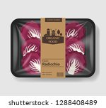radicchio salad leaves with... | Shutterstock .eps vector #1288408489