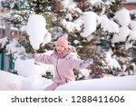 portrait of little girl... | Shutterstock . vector #1288411606