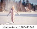 portrait of little girl... | Shutterstock . vector #1288411663