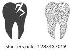 polygonal mesh tooth fracture... | Shutterstock .eps vector #1288437019