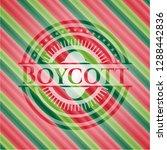 boycott christmas badge. | Shutterstock .eps vector #1288442836