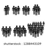 people icon set in trendy flat... | Shutterstock .eps vector #1288443109