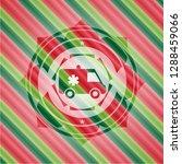 ambulance icon inside christmas ... | Shutterstock .eps vector #1288459066
