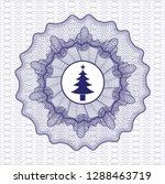 blue linear rosette with... | Shutterstock .eps vector #1288463719