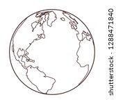 world map cartoon | Shutterstock .eps vector #1288471840