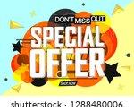 special offer  sale banner...   Shutterstock .eps vector #1288480006