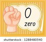 hand gesture number zero...   Shutterstock .eps vector #1288480540