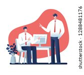 businessman  talking about work ... | Shutterstock .eps vector #1288481176
