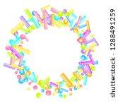 sprinkles grainy. sweet... | Shutterstock .eps vector #1288491259