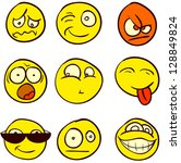 A Set Of 9 Smileys For Every...