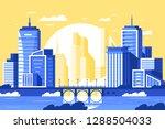flat modern city landscape with ... | Shutterstock .eps vector #1288504033