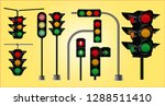 set of realistic traffic light. ... | Shutterstock .eps vector #1288511410