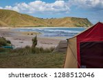 summer freedom camping  pouawa... | Shutterstock . vector #1288512046