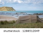 summer freedom camping  pouawa... | Shutterstock . vector #1288512049