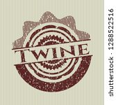 red twine distress grunge seal   Shutterstock .eps vector #1288522516
