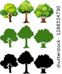 set of different tree... | Shutterstock .eps vector #1288524730