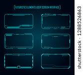 futuristic elements user screen ...   Shutterstock .eps vector #1288526863