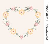 floral greeting card and... | Shutterstock .eps vector #1288529560