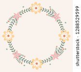 floral greeting card and... | Shutterstock .eps vector #1288529599