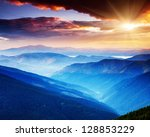 majestic sunset in the... | Shutterstock . vector #128853229
