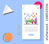 memphis style design mobile app ...