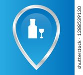 alcohol icon and map pin. logo...